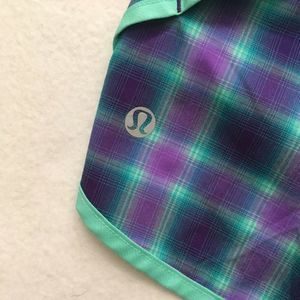 lululemon athletica Shorts - Lululemon Speed Short River Rock Oasis Plaid 8